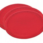 Round Stick-On Reflector, Red, Bulk Pack