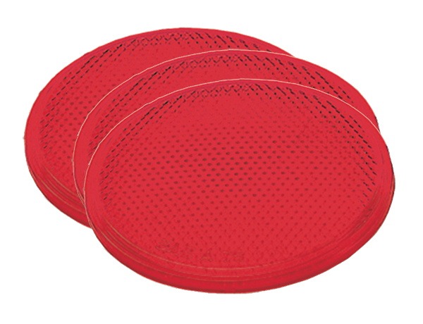 40052-3 – Round Stick-On Reflector, Red, Bulk Pack