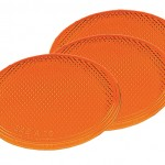 Round Stick-On Reflector, Yellow, Bulk Pack