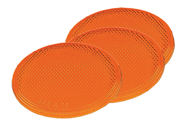 Grote Industries - 40053 – Round Stick-On Reflector, Yellow, Bulk Pack