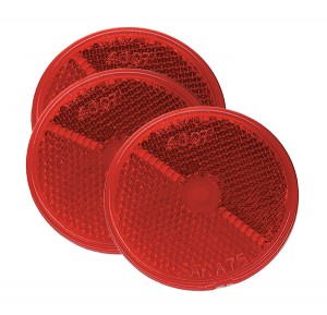 40072-3 – 2 1/2″ Round Stick-On Reflectors, Red, Bulk Pack