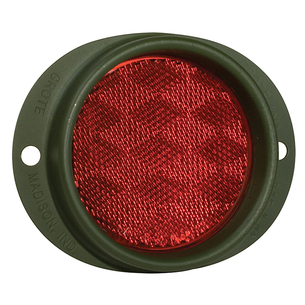 40162 – Steel Two-Hole Mounting Reflector, Red