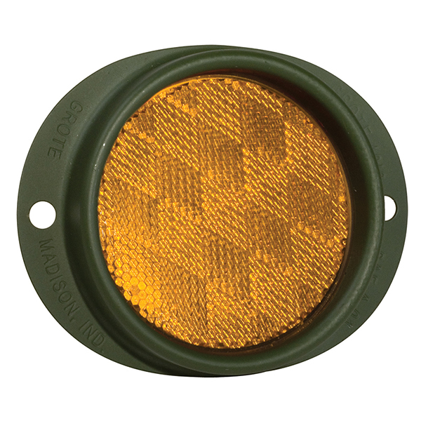 Grote Industries - 40163 – Steel Two-Hole Mounting Reflector, Yellow