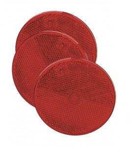 41012-3 – Sealed Center-Mount Reflector, 2″ Red,  Bulk Pack