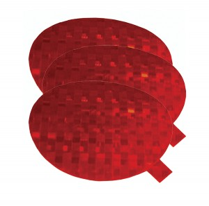 41142-3 – Stick-On Tape Reflectors, Red, Bulk Pack
