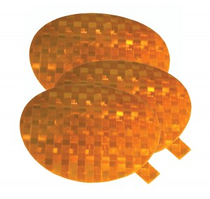 41143-3 – Stick-On Tape Reflectors, Yellow, Bulk Pack
