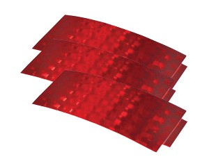 41152-3 – Stick-On Tape Reflectors, Red, Bulk Pack