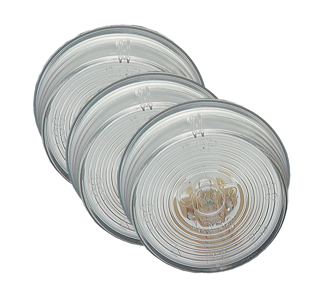 Grote Industries - 45821-3 – 2″ Twist-In Sealed License Lights, Clear, Bulk Pack