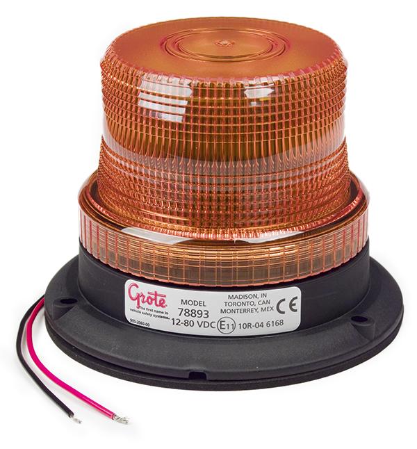 78893 – Mighty Mini LED Strobe, Magnetic Mount, Amber