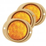 Steel Two-Hole Mounting Reflector, Yellow, Bulk Pack