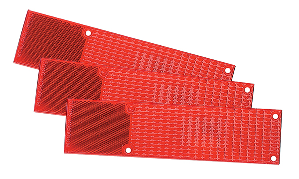Grote Industries - 92382-3 – RV, Marine & Utility Replacement Lenses, Large Wrap, Red, Bulk Pack