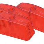 clearance marker replacement lenses school bus rectangular red bulk
