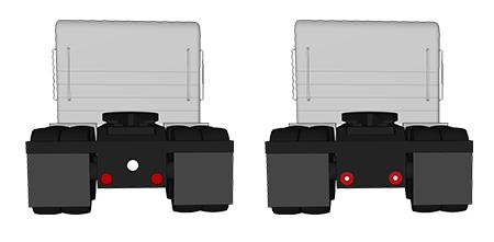 4 Zoll – LED-Bremslicht/Schlussleuchte/Blinker mit integrierter Sattelschlepper-Rückfahrleuchte, rund