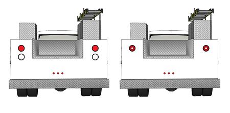 4 Zoll – LED-Bremslicht/Schlussleuchte/Blinker mit integrierter Lkw-Rückfahrleuchte, rund