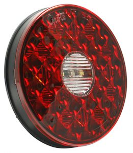 "4"" Round LED Stop Tail Turn Lights with Integrated Backup"