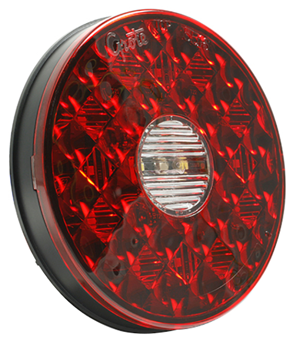 Grote Industries - 55162 – 4″ Round LED Stop Tail Turn with Integrated Back-Up Light