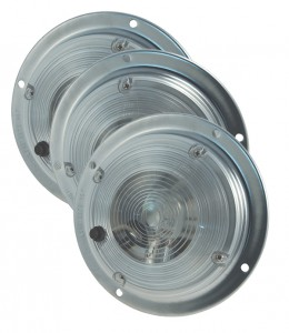 61821-3 – 6″ Surface Mount Dome Lights w/ Switch, Clear, Bulk Pack
