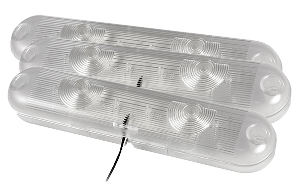 61F81-3 – LED Cabinet/Compartment Dome Light, Clear, Bulk Pack