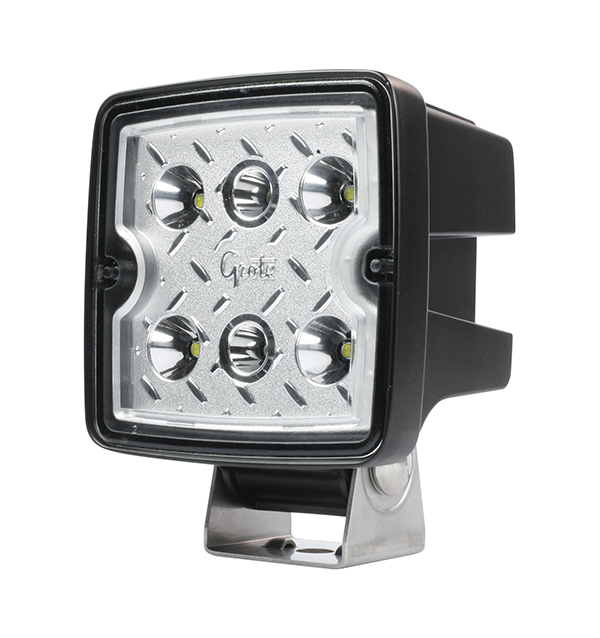 Grote Industries - 63L71 – Trilliant® Cube 2.0 LED Work Light, 2800 Lumens, Hard Shell SS, Flood