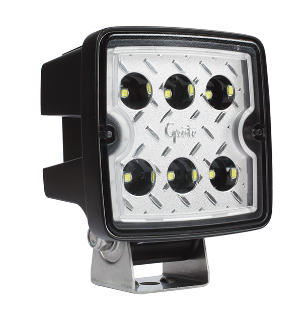 Grote Industries - 63L81 – Trilliant® Cube 2.0 LED Work Light, 2800 Lumens, Hard Shell SS, Wide Flood
