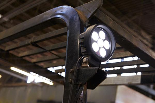 BriteZone product bz101-5 LED Light on Fork Lift