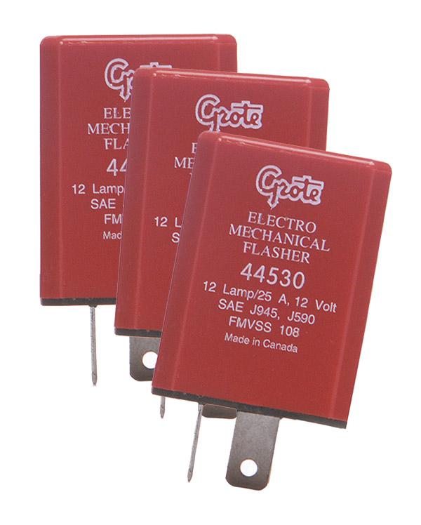 Grote Industries - 44530-3 – 2 Pin Flashers, 12 Light Electromechanical, Bulk Pack
