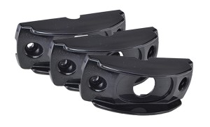 42112-3 – Surface Mount Bracket For MicroNova® Or MicroNova® Dot, Oval Mini Marker, Black, Bulk Pack