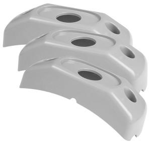 42120-3 – Surface Mount Bracket For MicroNova® Or MicroNova® Dot, Corner Radius Bracket, Gray, Bulk Pack