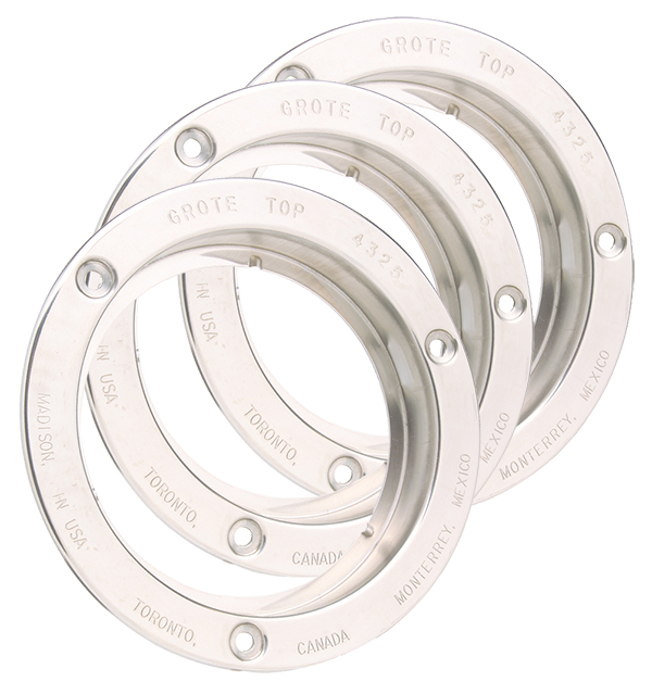 43253-3 – Theft-Resistant Flange For 4″ Round Lights, Steel, Bulk Pack