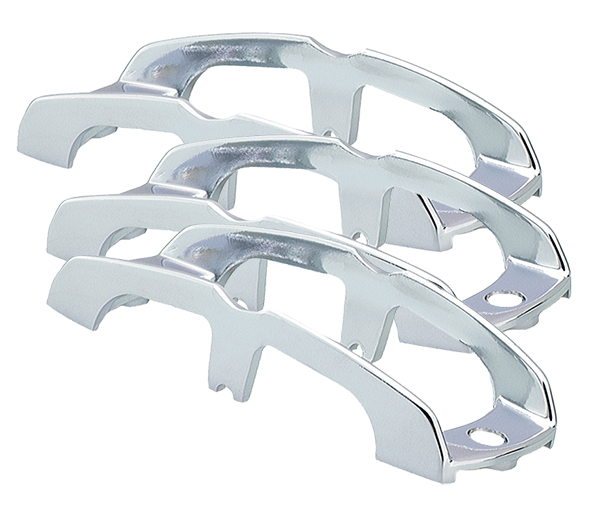 Grote Industries - 43673-3 – Chrome Buttress-Style Light Guards, Chrome Plated, Bulk Pack
