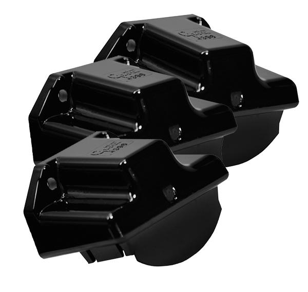 43962-3 – License Light Mounting Bracket, Black, Bulk Pack
