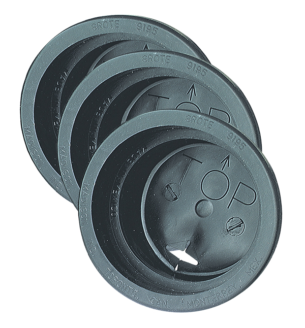 91950-3 – Closed Back Grommets For 4″ Round Lights, Black, Bulk Pack