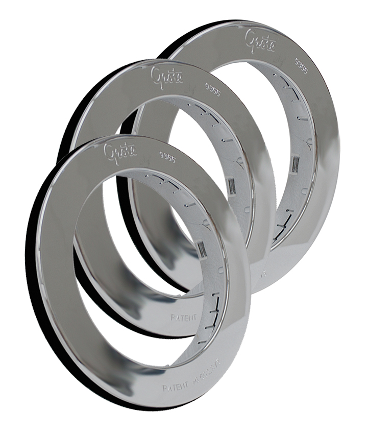 93553-3 – Snap-In Theft-Resistant Flange For 4″ Round LED Lights, Chrome Plated, Bulk Pack