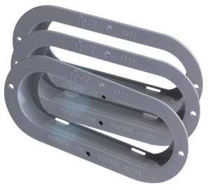 43220-3 – Theft-Resistant Mounting Flange For 6″ Oval Lights, Gray, Bulk Pack