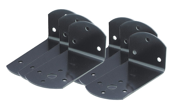 Grote Industries - 43282-3 – 7″ Jumbo Mounting Brackets, Black, Bulk Pack