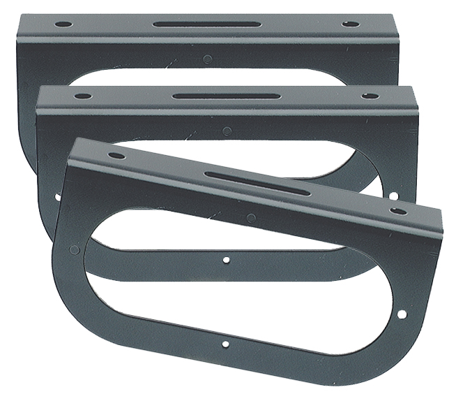 43362-3 – Mounting Bracket For 6″ Oval Lights, 90° Angle Bracket, Black, Bulk Pack