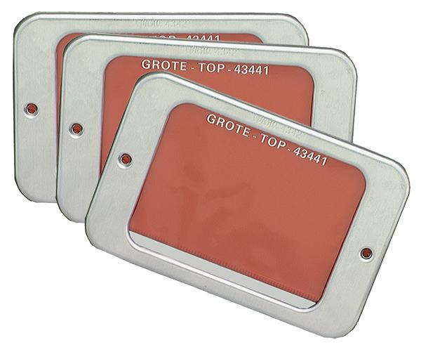 43424-3 – Aluminum Permit Holders, w/ Vinyl Pouch, Bulk Pack