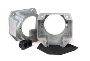 82-0859 – Zinc Die Cast 7-Way Socket & Plug Connector,Nose Box w/ Gasket & Grommet, 3 1/8″ Low Profile