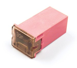 """82-FMX-30A – Cartridge """"Link"""" Fuse, Pink – 30 Amp"""