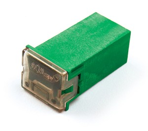 """82-FMX-40A – Cartridge """"Link"""" Fuse, Green – 40 Amp"""