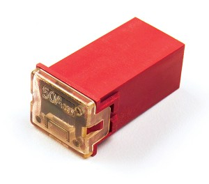 """82-FMX-50A – Cartridge """"Link"""" Fuse, Red – 50 Amp"""