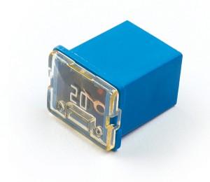 """82-FMXLP-20A – Low Profile Cartridge """"Link"""" Fuse, Blue – 20 Amp"""