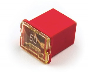 """82-FMXLP-50A – Low Profile Cartridge """"Link"""" Fuse, Red"""