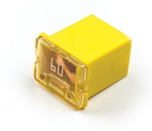 """82-FMXLP-60A – Low Profile Cartridge """"Link"""" Fuse, Yellow – 60 Amp"""