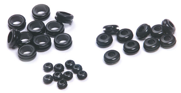 83-7006 – Rubber Grommets, Assortment (1/4″, 1/8″ & 3/8″), 10 Each