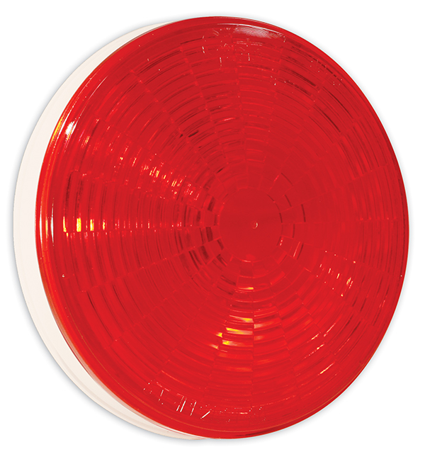 Grote Industries - 54302 – SuperNova® 4″ NexGen™ LED Stop Tail Turn Light, Grommet Mount, Male Pin, Red, Multi-Volt