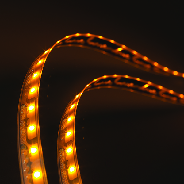 L12510803 – LightForm® Exterior LED Strip, Amber, 22.67in l 576mm