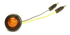 49283 – MicroNova® Dot LED Clearance Marker Light, w/ Grommet, ECE R7 Rated 9V – 32V, Yellow