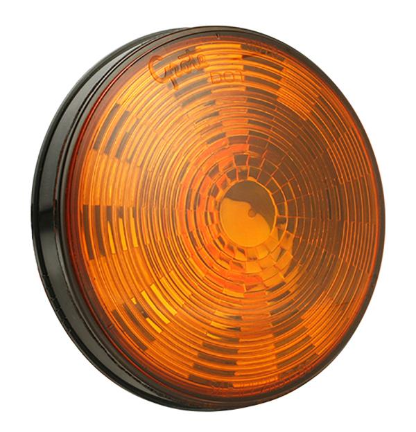 Grote Industries - 54313 – SuperNova® 4″ NexGen™ LED Stop Tail Turn Light, Grommet Mount, Front / Park / Turn , Hard Shell, Yellow