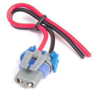 84-1038 – Headlight Connector Harness – High Beam, Red/Black, 16 Gauge, 6″ Wire Length